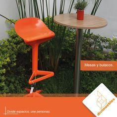Dale un toque diferente a tus espacios y crea ambientes modernos. Stool, Furniture, Home Decor, Environment, Spaces, Mesas, Trendy Tree, Colors, Projects