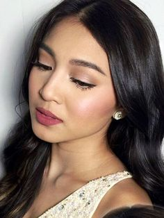 Nadine Lustre Can Sport Absolutely Any Hairstyle And Hair Color Nadine Lustre Pinteres Filipina Makeup, Filipina Beauty, Wedding Makeup For Brown Eyes, Natural Wedding Makeup, Prom Makeup, Bridal Makeup, Nadine Lustre Makeup, Lady Luster, Asian Makeup Looks