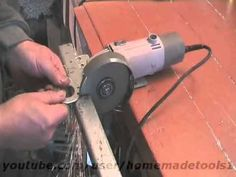 homemade milling machine of angle grinder