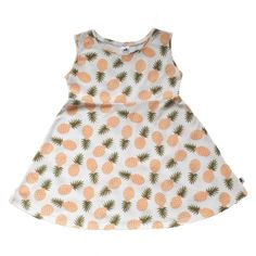Sleeveless Mila Dress - Tossed Pineapple - Little & Lively - 1 Fall Dresses, Girls Dresses, Cool Outfits, Summer Outfits, Baby Leggings, Summer Baby, Tossed, Clothing Company, Cute Girls