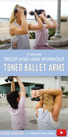 Lean Toned Ballet Arms in 5 minutes! Want lean, toned arms like a ballerina but you're short on time? This tricep and arm workout will tighten those. Boxing Workout, Gym Workouts, Ballet Workouts, Dancers Body, Girl Train, Hiit Program, Resistance Workout, Belly Fat Workout, Excercise
