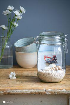 DIY Erinnerungen im Glas, Urlaubserinnerungen im Einmachglas als Geschenkidee oder einfache Dekoidee #reinventmemories