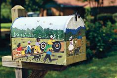 Decorated Mailbox - Discover the South's Finest Folk Art - Southernliving. The mailbox in front of artist Bernice Sims' Alabama home is itself a work of art.