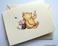Winnie the Pooh Thank You Tags Baby Shower by PrettyPaperCottage