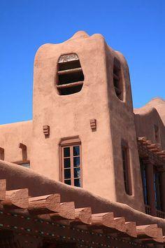 Fine Art Photography. Adobe Building, Santa Fe, New Mexico.