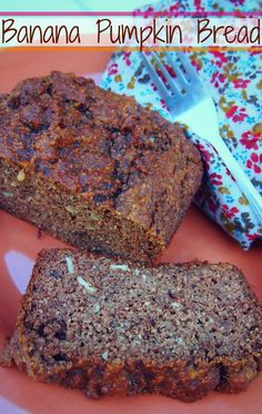 Healthy Banana Pumpkin Bread