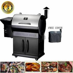 Z GRILLS Wood Pellet Oven and Smoker with Digital Temperature Control Outdoor 647726276731 Electric Meat Smokers, Electric Bbq Grill, Wood Pellets, Wood Smokers, Wood Pellet Grills, Camp Chef, Barbecue Grill, Charcoal Grill