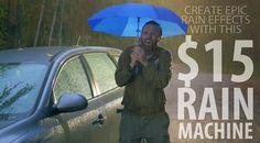 Create epic rain effects with this $15 rain machine