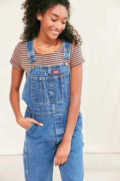 Urban Renewal Vintage Dickies 90's Light Wash Overall