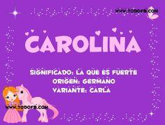 Imágenes con el significado de los nombres para Facebook: Carolina - TodoFb