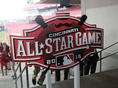 Cincinnati unveils 2015 MLB All-Star Game logo. Photo: The 2015 All-Star Game logo was revealed at the Great American Ball Park. The Enquirer/Leigh Taylor