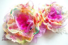 Bright and beautiful chiffon flowers- beautiful!