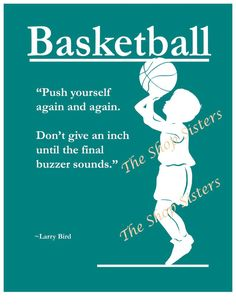 Motivational Basketball Boy Silhouette Teal Blue by TheShopSisters, $15.00