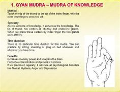 Awareness for Personal Coaching and Healing: Mudras -- Health In Your Hands Indian Finger Exercises For Good Health Kundalini Yoga, Ashtanga Yoga, Yoga Meditation, Gyan Mudra, Hand Mudras, Finger Exercises, Yoga Anatomy, Yoga Philosophy, Healing Hands