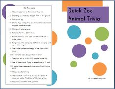 Do you know why flamingos are pink? Do you know which zoo animals do not have vocal cords? Are zebras black with white stripes or white with black stripes? Well, we do! {Free printable zoo animal trivia brochure}