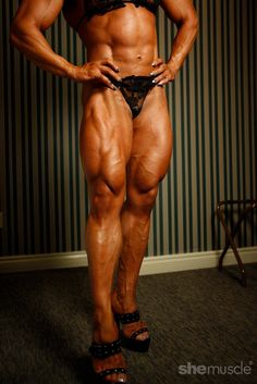 Alina Popa looking powerful and strong