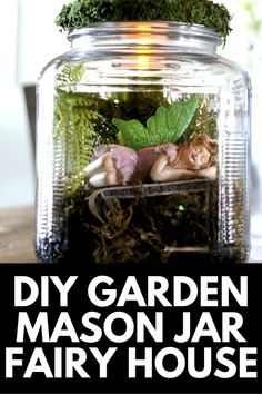 Fairy houses are a classic garden feature, and here, we show you how to create your own fairy house using a mason jar! Get the full tutorial at MomDot.com!