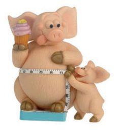 Piggin-Pig-Collectors-Figurine-You-Can-Piggin-Do-It-14323-Weight-Diet