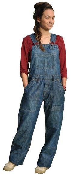 mode londres , salopette en jean pour la ville