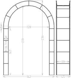 rosenbogen breite 200cm verzinkt mit spitze garten pinterest rosenbogen rosenbogen. Black Bedroom Furniture Sets. Home Design Ideas
