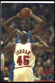 Michael Jordan and  Shaquille O'Neal (Orlando Magic)