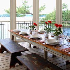 peaks & rafters portfolio - lake muskoka cottage  Top of the boathouse