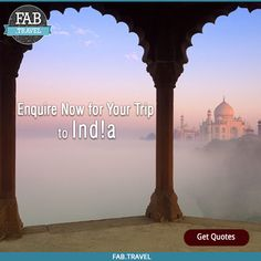 #TravelFabulously Plan your trip to #India & discover an energetic mixture of #Culture, #Aroma and #Flavour, and let India flood your #Senses in all direction. Get Quotes at www.fab.travel