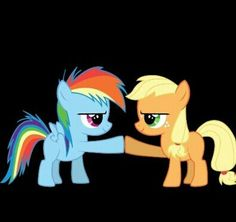 Rainbow dash and Apple jack