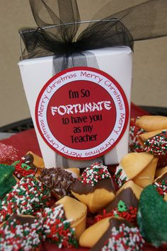 Chocolate dipped fortune cookies by DaiseyDoos on Etsy, $10.00   Could easily make myself for Valentines Day?