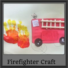 Think this is gonna be my September craft:) Teach 911 and fire exit to Kiddos:) Fire Crafts, K Crafts, Crafts For Kids, Community Helpers Crafts, Boy Craft, Firefighter Crafts, Fire Prevention Week, September Crafts, Safety Week