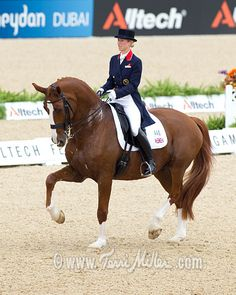 Laura Bechtolsheimer and Mistral Hojris at the 2010 WEG.