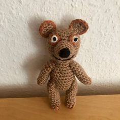 Teddy/Bärchen - Kuscheltier von Peppa Wutz Häkelanleitung