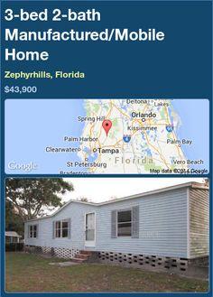 3-bed 2-bath Manufactured/Mobile Home in Zephyrhills, Florida ►$43,900.00 #PropertyForSale #RealEstate #Florida http://florida-magic.com/properties/86582-manufactured-mobile-home-for-sale-in-zephyrhills-florida-with-3-bedroom-2-bathroom