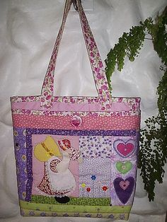Quilted Sunbonnet Sue tote