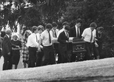 Members of the Kennedy family carry casket of David Kennedy who ...