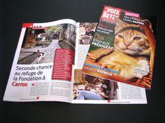 LA VOIX DES BÊTES - La Fondation Assistance aux animaux • Magazine d'information mensuel • 36 p • Création graphique et éditoriale • Mise en page, secrétariat de rédaction.