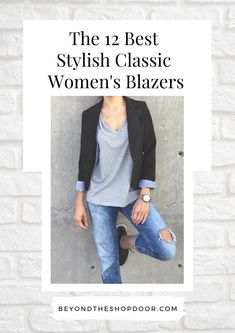 A well-made blazer is a gorgeous layering piece, and with the right cut, it can make any woman's silhouette more elegant and make an entire look simply more put together. I hope that you find inspiration in this collection of my favourite Stylish Classic Women's Blazers Dress Up Jeans, Military Style Jackets, Edgy Look, Blazer Fashion, Blazer Buttons, Piece Of Clothing, Military Fashion, Thing 1 Thing 2, Chic Outfits