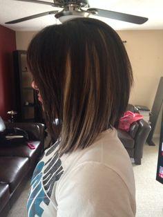 Peek A Boo Highlights Carmel Highlights Dark Brown Hair