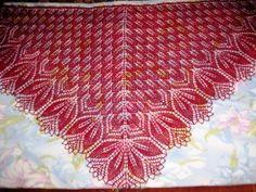 "шаль ""Харуни"" с бисером Red Color, Blanket, Knitting, Crochet, Inspiration, Art, Ideas, Tricot, Biblical Inspiration"