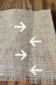 Thank you Lindsay!!!   How to Cut Burlap