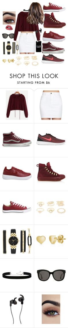 """For the street"" by hello-mizu on Polyvore featuring Lee, Vans, NIKE, Converse, Topshop, Charlotte Russe, Anne Klein, BERRICLE, 2028 and Gentle Monster"