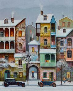 Old Tbilisi Painting by David Martiashvili
