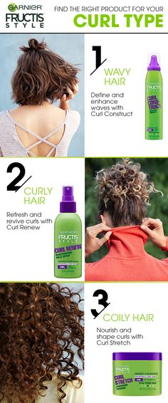 Do you have waves, curls or coils? Identify your curl type and find the right Garnier Fructis Style product for strong, frizz-free curls.
