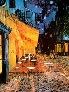One of my very favorite Van Gogh paintings.  I never get tired of looking at this.  Beautiful!
