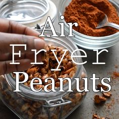 These air fried peanuts are the perfect quick, healthy snack. They are tossed in a homemade spicy seasoning. You may even want to double or triple the batch. Healthy Cooking, Healthy Snacks, Air Frying, Coconut Sugar, Spice Mixes, Dairy Free Recipes, Tossed, Peanuts, Cooking Time