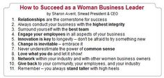 How to Succeed as a Woman Business Leader by Sharon Avent, Smead President & CEO  www.facebook.com/cluborganomics  www.twitter.com/smeadorganomics  www.youtube.com/smeadorganomics  www.Gplus.to/Smead  www.pinterest.com/smeadorganomics