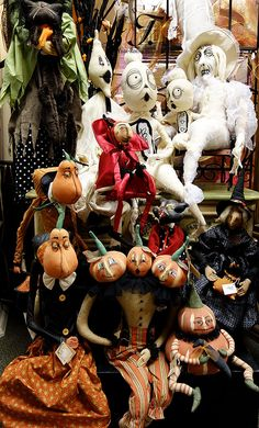 The Ghost Family is having a Halloween gathering of all its Halloween Joe Spencer doll friends at Traditions!