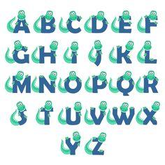 letras de dinosaurio Dinosaur Party, Quiet Book Templates, Dinosaur Illustration, Picture Letters, Cutting Tables, Monogram Fonts, Coreldraw, Hand Lettering, Alphabet