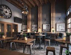 Best Cafe Bar Design Ideas For You Cafe Interior Ideas Creative 19 Pub Interior, Restaurant Interior Design, Interior Ideas, Coffee Cafe Interior, Cafe Interior Vintage, Vintage Cafe Design, Restaurant Interiors, Cafe Industrial, Industrial Restaurant