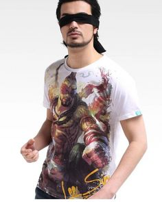 League of legends Lee Sin white short sleeve t shirt for men LOL game-